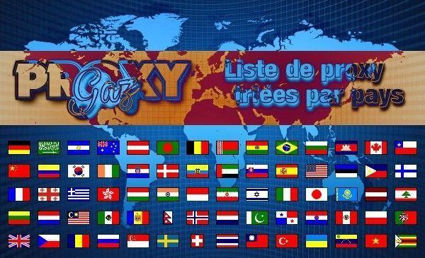 Liste de proxy triée par pays