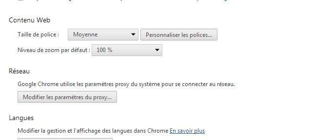 Utiliser un proxy avec Chrome